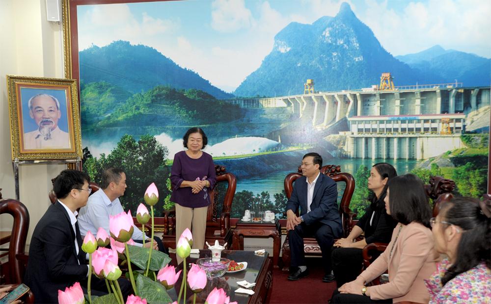 Đồng chí Trương Mỹ Hoa, nguyên Phó Chủ tịch nước thăm và làm việc tại huyện Na Hang và Lâm Bình